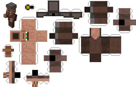 Minecraft Papercraft New - minecraft papercraft villager pictures to pin on