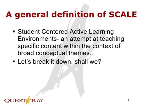 broader themes definition student centered active learning environment