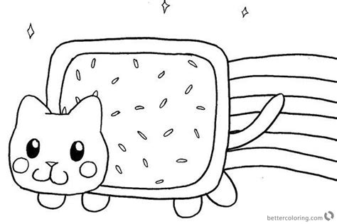 coloring page nyan cat nyan cat coloring pages fan art picture free printable
