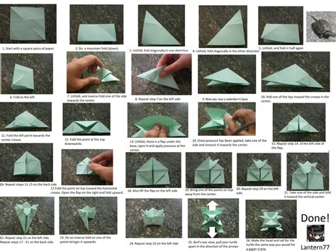 How To Fold A Paper Turtle - origami turtle by lantern77 on deviantart