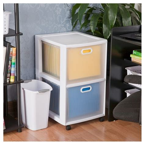 sterilite 174 ultra 2 drawer storage cart white target
