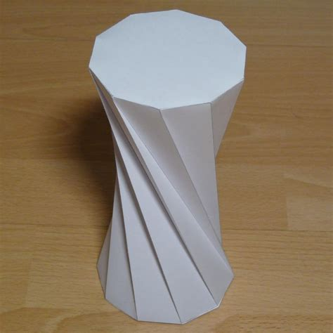 Origami Rectangular Prism - twisted decagonal prism paper model with