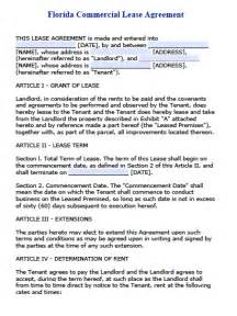 free florida commercial lease agreement pdf word doc