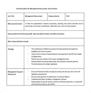 description template pdf management description project manager