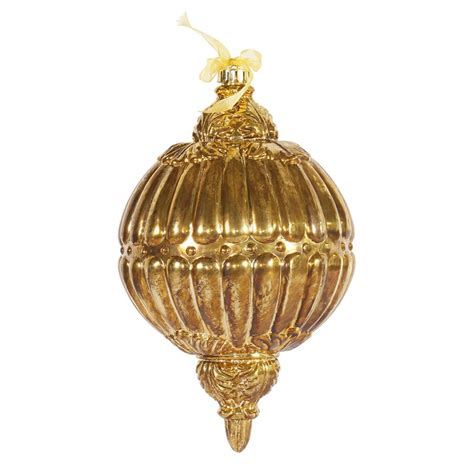 vickerman o128013 12 in antique gold ball drop ornament