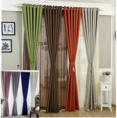 rustic orange curtains 2017 linen curtains for living room tulle cloth curtain