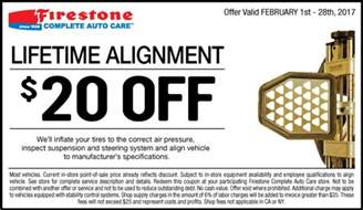 Car Tire Alignment Coupons 20 Firestone Lifetime Alignment Coupon February 2017