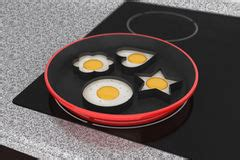 induction cooking eggs stove top cooking element stock images image 20978724