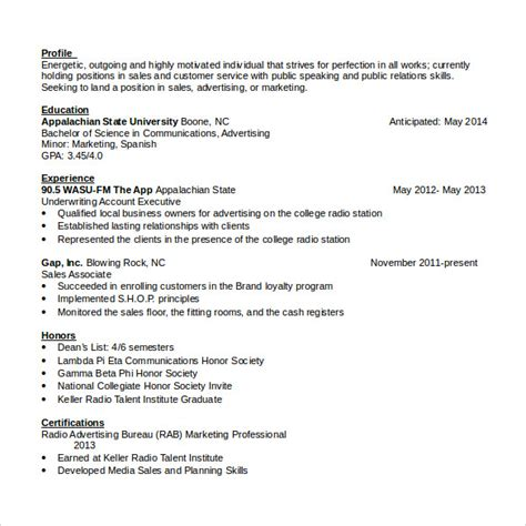 word resume sles sales associate resume 7 free sles exles