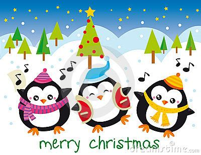 christmas penguins stock  image