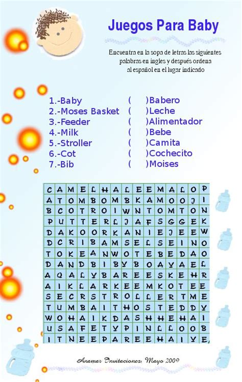 Bingo Para Baby Shower En Español by Gallery For Gt Juegos Para Baby Shower En Espa 195 177 Ol Gratis