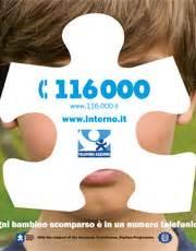 numero telefonico ministero dell interno 116000 numero unico in aiuto dei bambini scomparsi