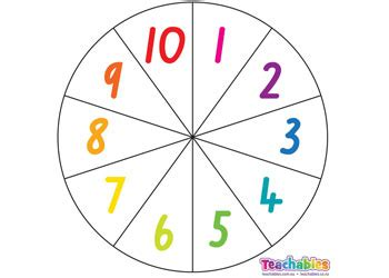 printable spinner with numbers 1 10 dice spinners