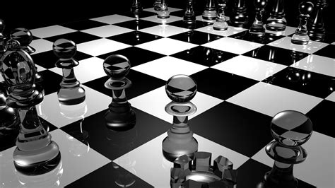 wallpaper 3d black and white chess 3d black and white hd wallpaper wallpaper