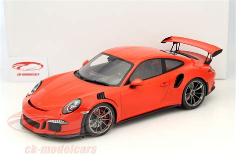 porsche gt3 rs orange ck modelcars wax02200002 porsche 911 991 gt3 rs lava