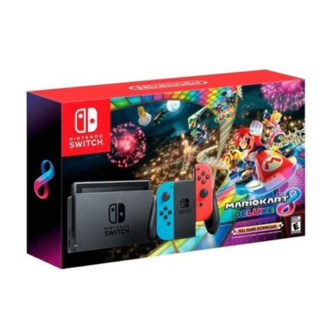 mario kart 8 console nintendo switch with mario kart 8 deluxe console bundle