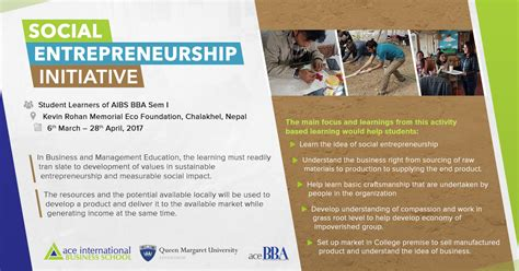 Mba Social Entrepreneurship Europe by News And Events Archives Ace International Business School