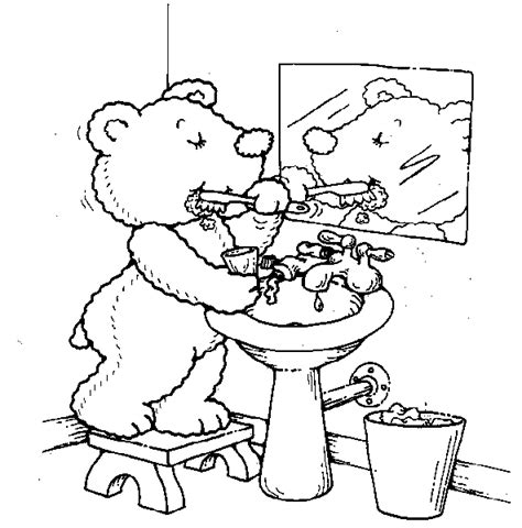 teddy bears coloring page teddy bear brush teeth all