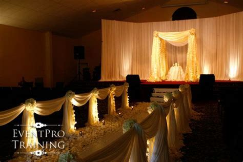 Ceremony Aisle Draping   From Event Pro Training   Wedding