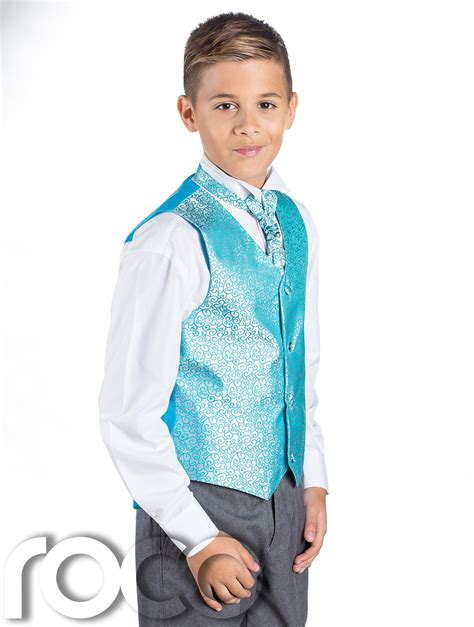 Boys Aqua Grey Suit Page Boy Suits Boys Wedding Suits