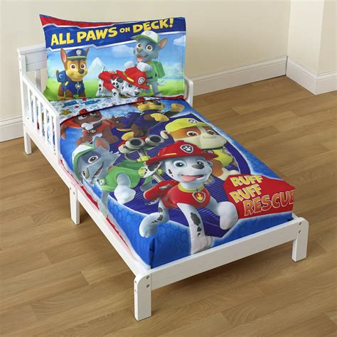 paw patrol comforter nickelodeon paw patrol toddler boy s 4 piece bedding set