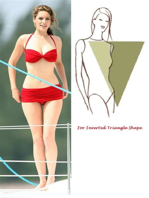 triangular shape celebrity top bikinis for different body shapes