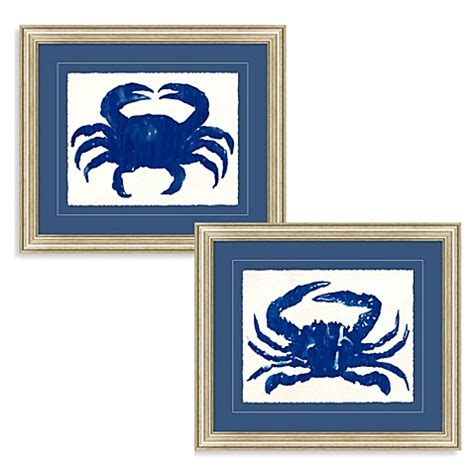 bed bath beyond wall decor blue crab framed wall art bed bath beyond