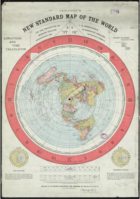 standard map flat earth maps