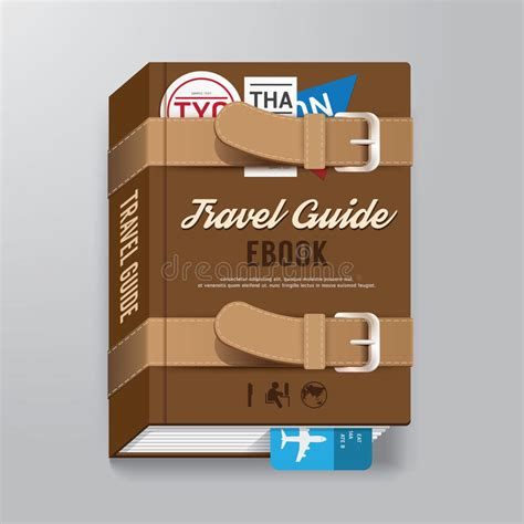 Book Cover Template Illustrator by Book Cover Travel Guide Design Luggage Concept Template