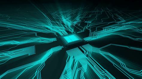 circuit board animation abstract electronic circuit board loop digital technology