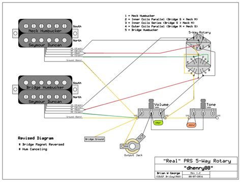 prs 5 way rotary switch wiring diagram polarity