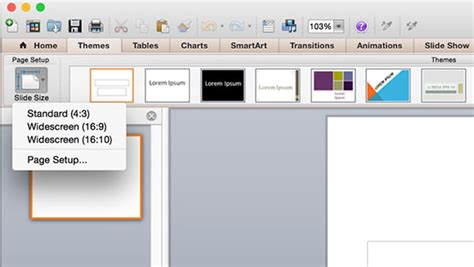 How To Make A Widescreen Powerpoint In Microsoft Office 2011 For Mac Powerpoint Replace Template