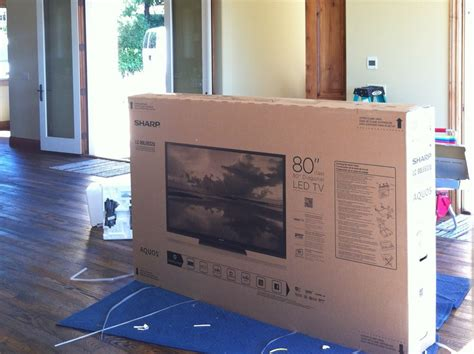 80 Inch Tv Unboxing 80 inch sharp lc 80le632u mw home entertainment wiring