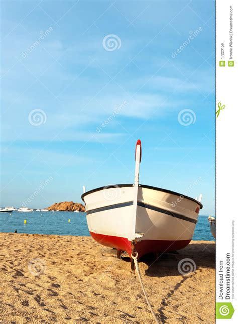boat time in spanish fishing boat at the spanish coast royalty free stock image