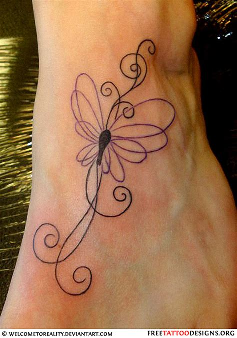butterfly foot tattoo 60 butterfly tattoos feminine and tribal butterfly
