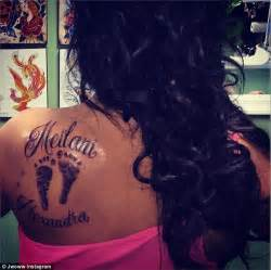 jwoww gets her daughter meilani s footprints tattooed on