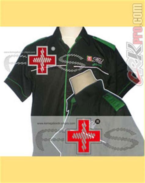 Kemeja Batik Emblem penjahit konveksi tailor kemeja pria seragam overall