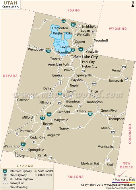 usa states map utah utah cities map laminatoff