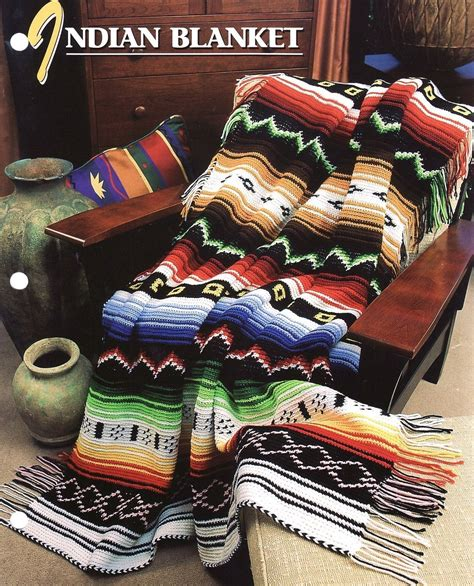 American Blanket Designs by Indian Blanket Crochet Pattern Annies Afghan And 50