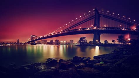 wallpaper 4k new wallpaper manhattan bridge suspension bridge new york