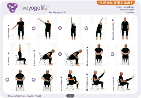 easy poses for seniors with a chair level 1