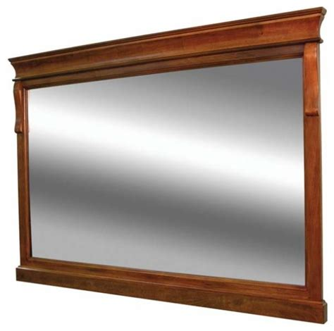 foremost naples 36 inch mirror in warm cinnamon finish