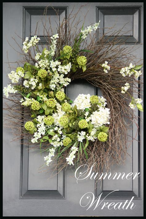 Summer Door Wreath by Summer Wreath Tutorial Stonegable