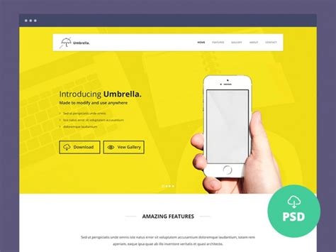 app landing page template free 40 best free landing page psd templates designmaz