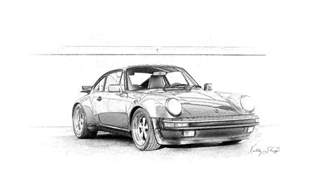 Porsche 911 Sketches by Porsche 911 Pencil Sketch This Another From My