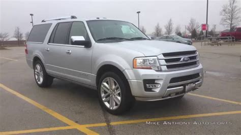 expedition e6735m silver white 2016 ford expedition el platinum 4x4 55 degree cold
