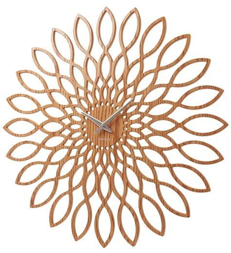 sunflower uhr designer karlsson wanduhr sunflower small 40 cm holz uhr