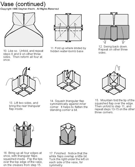origami blueprints hecht s web site origami diagrams