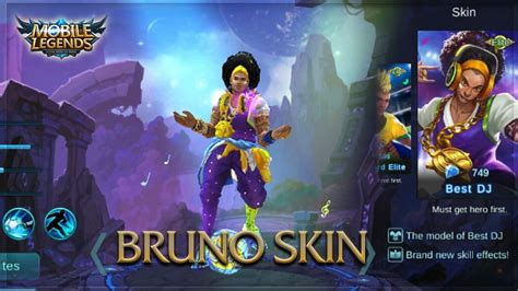 Kaos Baju Epic mobile legends new bruno best dj skin