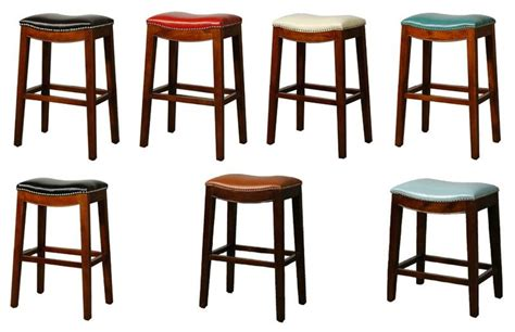 elmo bounded leather counter stool